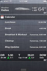 iOS 6 Easy to read appointments